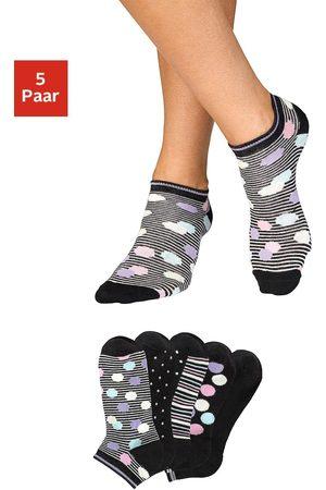 Bench Dames Sokken & Kousen - Sneakersokken gestreept en gestippeld (5 paar)