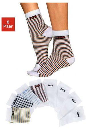 H.I.S Dames Panty's & Maillots - Sokken gestreept en unikleur (8 paar)