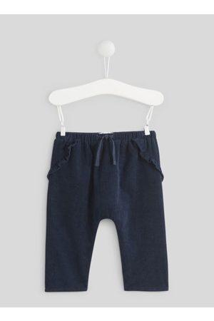 Bout'Chou Dames Pantalons - Pantalon en velours à volants by