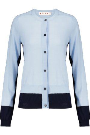 Marni Colorblocked wool cardigan