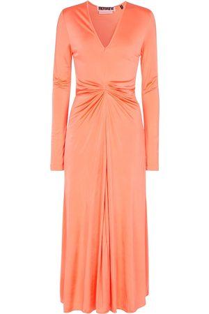 ROTATE Sierra long-sleeved midi dress