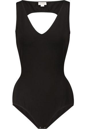 Alexander McQueen Cutout stretch-knit bodysuit