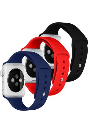 Imoshion Dames Horloges - Siliconen bandje Multipack Apple Watch Series 1-7 / SE - 38/40mm - / Blauw / Rood