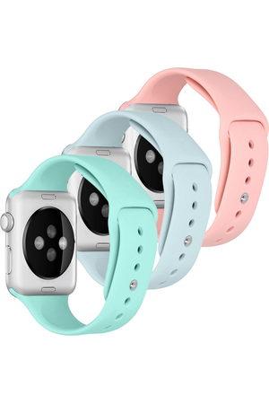 Imoshion Dames Horloges - Siliconen bandje Multipack Apple Watch Series 1-7 / SE - 42/44mm - Roze / Groen /