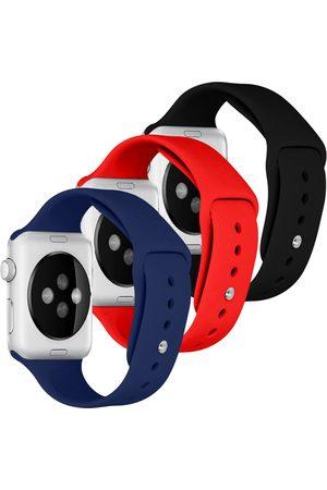 iMoshion Siliconen bandje Multipack Apple Watch 1 t/m 6 / SE - 42/44mm - / Blauw / Rood