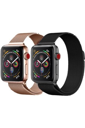 Imoshion Dames Horloges - Milanees Watch band Multipack Apple Watch Series 1 t/m 6 / SE - 42/44 mm