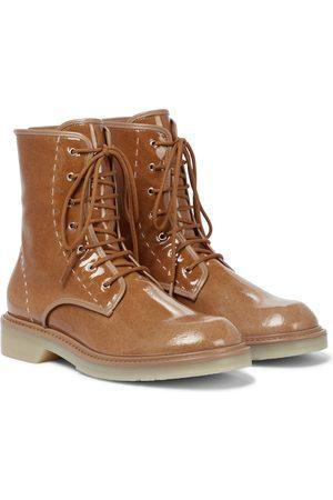 Max Mara Beth wool combat boots