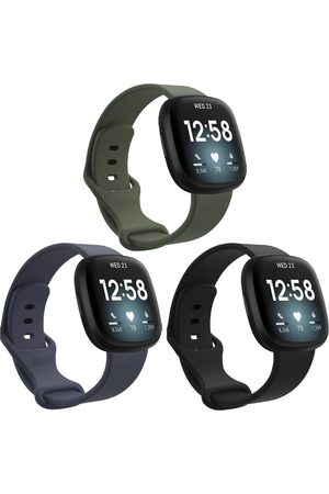 Imoshion Siliconen bandje Multipack voor Fitbit Sense / Versa 3 - / Groen / Blauw