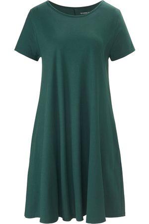 Green Cotton Jerseyjurk 100% katoen korte mouwen Van