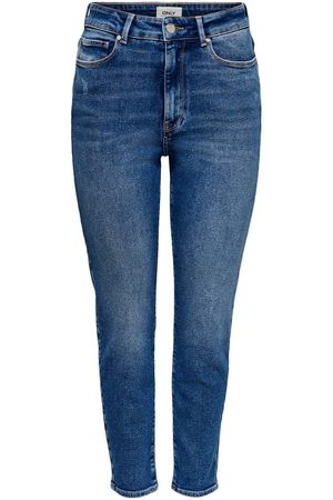 Only Dames Straight - Onlemily Life Ankle Straight Fit Jeans Dames Blauw