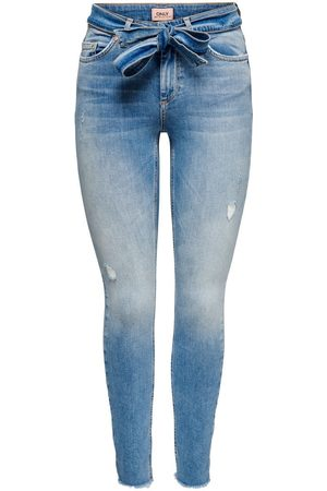 ONLY Onlblush Life Mid Ankle Skinny Jeans Dames Blauw