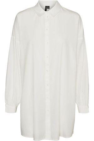 VERO MODA Lang Overhemd Dames White