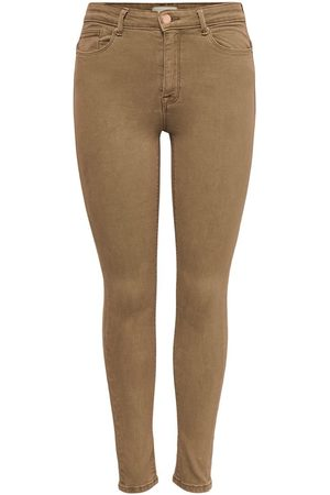 ONLY Onlpaola Life Hw Ankle Skinny Jeans Dames Bruin