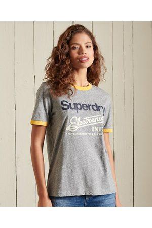Superdry Core Logo American Classics-T-shirt met contrasterende bies