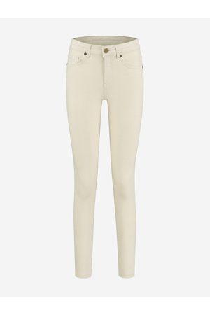 NIKKIE Spijkerbroek met gouden patch 24 / Cream