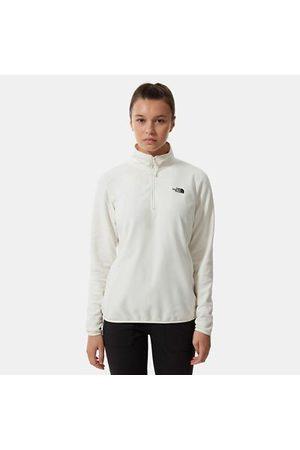 The North Face Dames Sweaters - The North Face 100 Glacier-fleece Met Kwartrits Voor Dames Gardenia White Größe L Dame