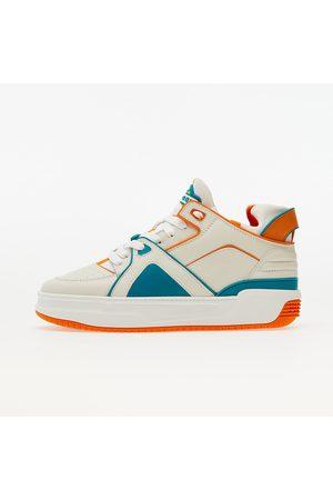 JUST DON Heren Sportschoenen - Courtside Tennis MID JD2 Off-white/ Orange/ Turquoise