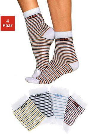 H.I.S Basic sokken met ingebreid logo (4 paar)