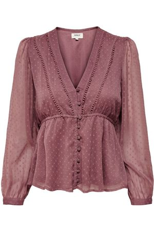 ONLY Dames Blouses - Gedetailleerd Overhemd Dames Roze