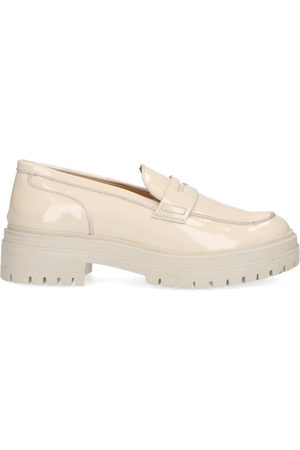 Manfield Dames Loafers - Chunky off-white loafers van lakleer