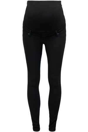 ONLY Mama Olmiris Mid Ankle Push Up Skinny Jeans Dames Zwart
