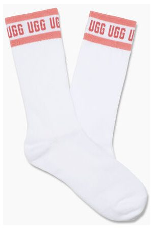 UGG W Graphic Crew Sock in White/Pink Blossom, maat OS