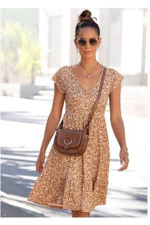 Buffalo Dames Geprinte jurken - Jerseyjurk met bloemetjesprint