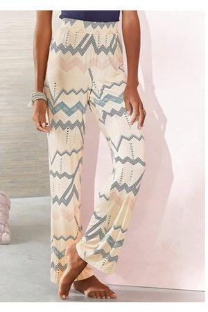 Lascana Pyjamabroek met grafisch zigzagmotief