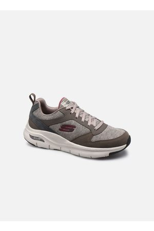 Skechers ARCH FIT - Leather Overlay Lace-Up by