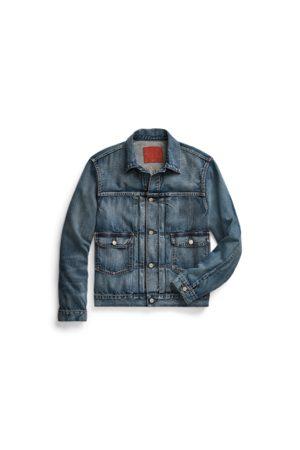 RRL Heren Jacks - Indigo Denim Trucker Jacket