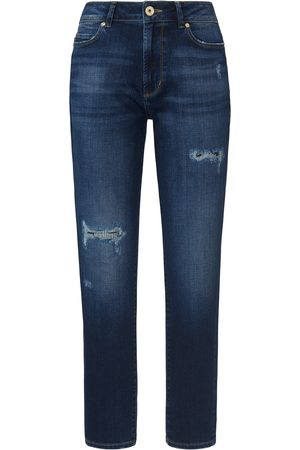 JOOP! Dames Jeans - Enkellange jeans destroyed effecten Van