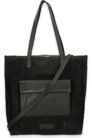 Shabbies Amsterdam Dames Shoppers - Shoppers Shopper Waxed Suede Matching Waxed Leather