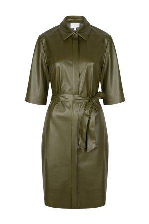 Dante 6 Faux leather jurk Baroon olijf