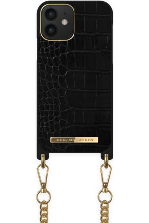 IDEAL OF SWEDEN Dames Telefoon - Necklace Case iPhone 12 Jet Black Croco