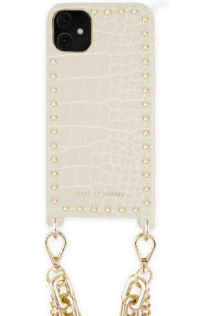 Ideal of sweden Statement Phone Necklace Case iPhone 11 Beatstuds Cream Croco