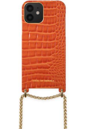 Ideal of sweden Lilou Necklace Case Orange Croco iPhone 12