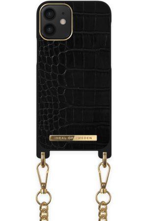 Ideal of sweden Necklace Case iPhone 12 Mini Jet Black Croco