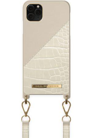 Ideal of sweden Atelier Phone Necklace Case iPhone 11 Pro Max Cream Beige Croco