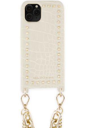 Ideal of sweden Statement Phone Necklace Case iPhone 11 Pro Beatstuds Cream Croco
