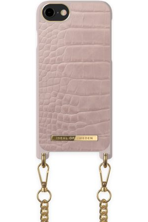 Ideal of sweden Necklace Case iPhone 8 Misty Rose Croco
