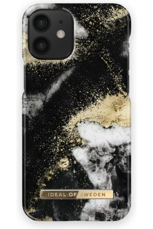 Ideal of sweden Fashion Case iPhone 12 Mini Black Galaxy Marrble
