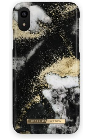 Ideal of sweden Fashion Case iPhone XR Black Galaxy Marble