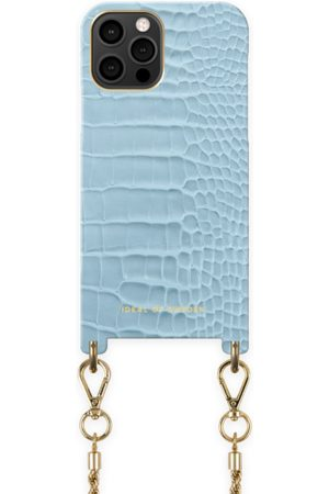 Ideal of sweden Atelier Necklace Case iPhone 12 Pro Max Sky Blue Croco
