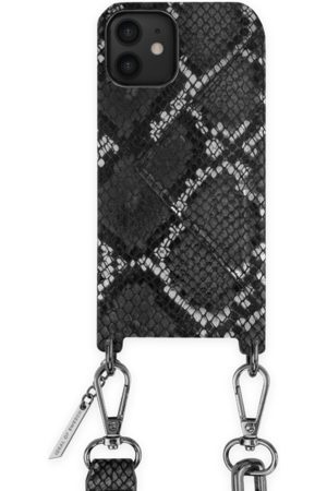 Ideal of sweden Statement Phone Necklace Case iPhone 12 Black Silver Snake
