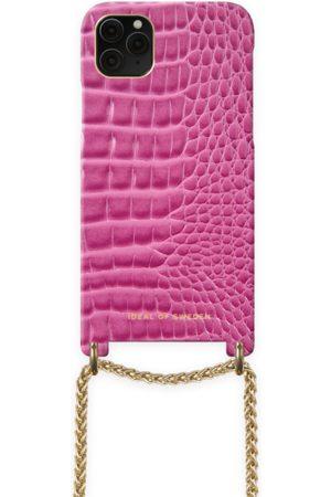 Ideal of sweden Lilou Necklace Case Fuchsia Croco iPhone 11 Pro Max