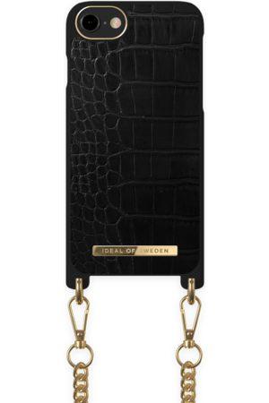 Ideal of sweden Necklace Case iPhone 8 Jet Black Croco