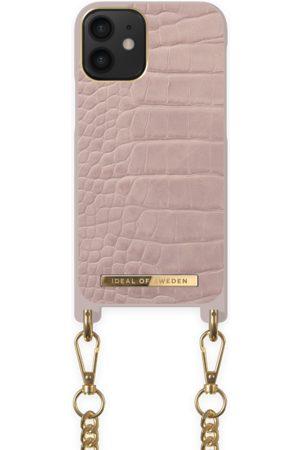 Ideal of sweden Necklace Case iPhone 12 Mini Misty Rose Croco