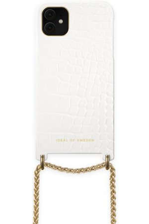 Ideal of sweden Lilou Necklace Case White Croco iPhone 11