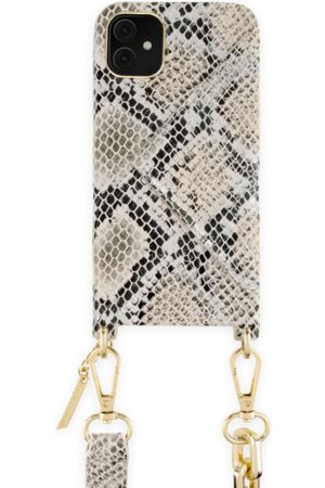 Ideal of sweden Statement Phone Necklace Case iPhone 11 Beige Shimmery Snake