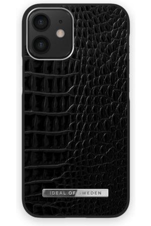 Ideal of sweden Atelier Case New iPhone 12 Mini Neo Noir Croco Silver